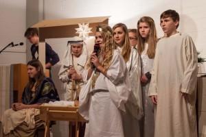 Engel verkündigen die Geburt des Heilands